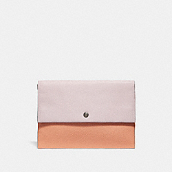 ENVELOPE POUCH IN COLORBLOCK - SV/ICE PINK MULTI - COACH F29660