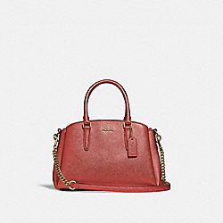 MINI SAGE CARRYALL - METALLIC CURRANT/LIGHT GOLD - COACH F29665