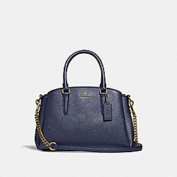 MINI SAGE CARRYALL - METALLIC DENIM/LIGHT GOLD - COACH F29665