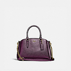 MINI SAGE CARRYALL - IM/METALLIC BERRY - COACH F29665