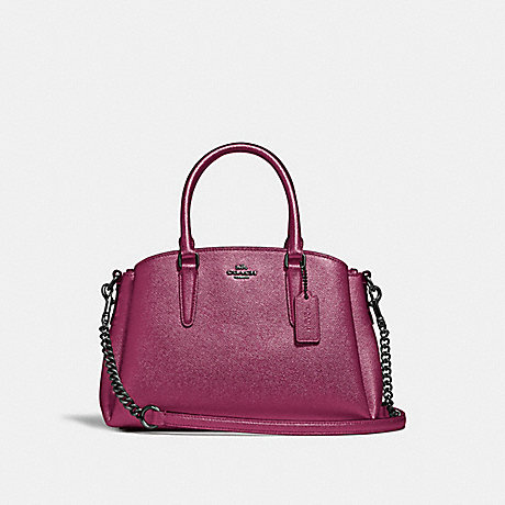 COACH MINI SAGE CARRYALL - METALLIC MAGENTA/BLACK ANTIQUE NICKEL - F29665