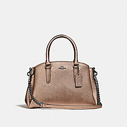 MINI SAGE CARRYALL - ROSE GOLD/SILVER - COACH F29665