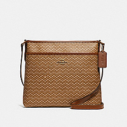 COACH FILE CROSSBODY WITH LEGACY PRINT - NEUTRAL/LIGHT GOLD - F29672