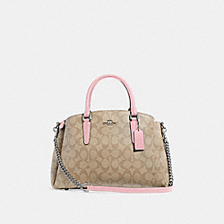 SAGE CARRYALL IN SIGNATURE CANVAS - LIGHT KHAKI/CARNATION/SILVER - COACH F29683