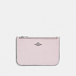 ZIP CARD CASE IN COLORBLOCK - ICE PINK MULTI/SILVER - COACH F29687