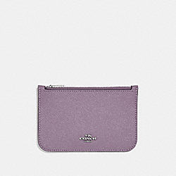 ZIP CARD CASE - JASMINE/SILVER - COACH F29688