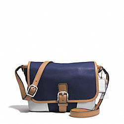 COACH HADLEY LEATHER FIELD BAG - SILVER/MIDNIGHT - F29763