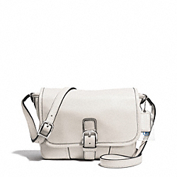 COACH HADLEY LEATHER FIELD BAG - SILVER/PARCHMENT - F29763