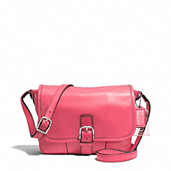 COACH HADLEY LEATHER FIELD BAG - SILVER/STRAWBERRY - F29763