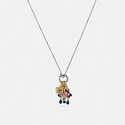 CLOUD AND RAINBOW NECKLACE - MULTI/SILVER - COACH F29791