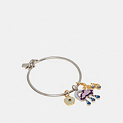 CLOUD AND RAINBOW BANGLE - MULTI/SILVER - COACH F29792