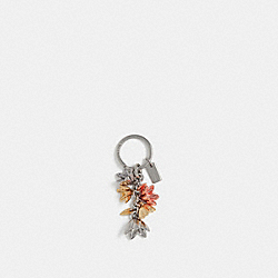 WILDFLOWER MULTI BAG CHARM - f29813 - SILVER/SILVER