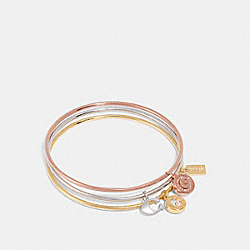 SIGNATURE CHARM BANGLE SET - MULTI/GOLD - COACH F29819