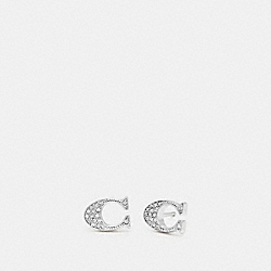SIGNATURE STUD EARRINGS - SILVER - COACH F29824