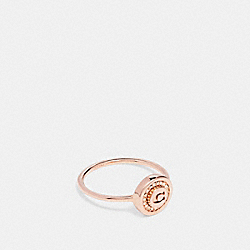 COACH PAVE PENDANT RING - ROSEGOLD - F29829