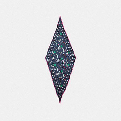COACH SCENIC HAWAIIAN SILK DIAMOND - MIDNIGHT NAVY - f29850