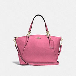 SMALL KELSEY SATCHEL - METALLIC ANTIQUE BLUSH/LIGHT GOLD - COACH F29867