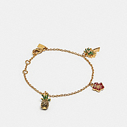 BLUE HAWAII CHARM BRACELET - MULTI/GOLD - COACH F29871