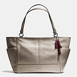 PARK LEATHER CARRIE TOTE - f29898 - SILVER/PEWTER