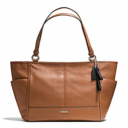 COACH PARK LEATHER CARRIE TOTE - SILVER/SADDLE - F29898