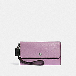 SMALL TRIPLE WRISTLET IN COLORBLOCK - JASMINE MULTI/SILVER - COACH F29911