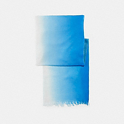 COACH SIGNATURE OMBRE WRAP - BRIGHT BLUE/AQUAMARINE - F29925