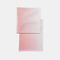 COACH SIGNATURE OMBRE WRAP - LIGHT PINK/PINK - F29925