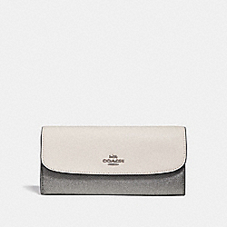 SOFT WALLET IN COLORBLOCK - CHALK MULTI/SILVER - COACH F29938
