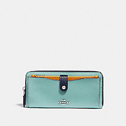 MULTIFUNCTION WALLET IN COLORBLOCK - SILVER/BLUE MULTI - COACH F29940