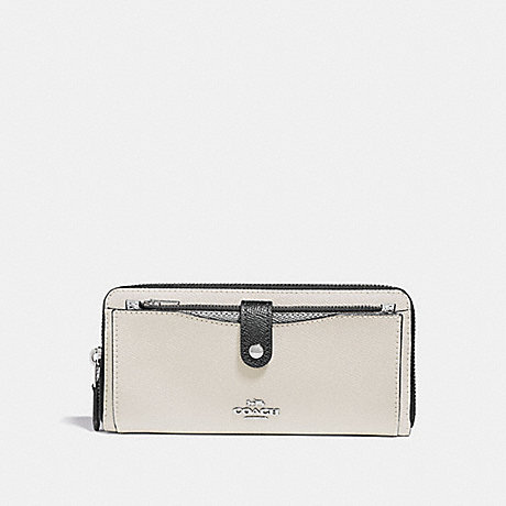 COACH MULTIFUNCTION WALLET IN COLORBLOCK - CHALK MULTI/SILVER - f29940