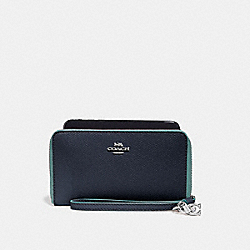 PHONE WALLET WITH CHARMS - MIDNIGHT NAVY/SILVER - COACH F29943