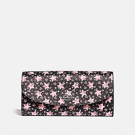 COACH SLIM ENVELOPE WALLET WITH STAR PRINT - MIDNIGHT MULTI/SILVER - f29952