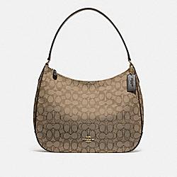 ZIP SHOULDER BAG IN SIGNATURE JACQUARD - KHAKI/BROWN/LIGHT GOLD - COACH F29959