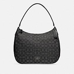 ZIP SHOULDER BAG IN SIGNATURE JACQUARD - BLACK SMOKE/BLACK/SILVER - COACH F29959
