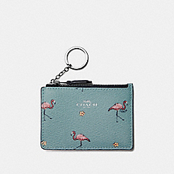 MINI ID SKINNY WITH FLAMINGO PRINT - SVNGV - COACH F30045