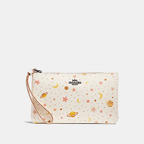COACH LARGE WRISTLET WITH CONSTELLATION PRINT - Chalk Multi/BLACK ANTIQUE NICKEL - f30058