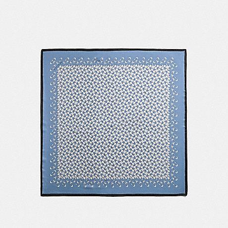 COACH SIGNATURE SILK SQUARE SCARF - CORNFLOWER - F30067