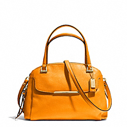 COACH MADISON LEATHER SMALL GEORGIE SATCHEL - LIGHT GOLD/BRIGHT MANDARIN - F30081