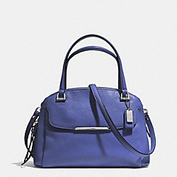 COACH MADISON LEATHER SMALL GEORGIE SATCHEL - SILVER/LACQUER BLUE - F30081