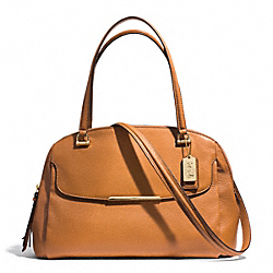 COACH MADISON LEATHER GEORGIE SATCHEL - LIGHT GOLD/BURNT CAMEL - F30082