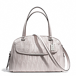 MADISON GATHERED LEATHER GEORGIE SATCHEL - f30084 - SILVER/PARCHMENT