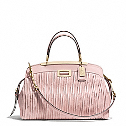 MADISON GATHERED LEATHER ANDIE SATCHEL - f30085 - LIGHT GOLD/NEUTRAL PINK