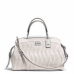 COACH MADISON GATHERED LEATHER ANDIE SATCHEL - SILVER/PARCHMENT - F30085