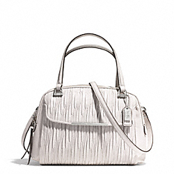 COACH MADISON LEATHER SMALL GEORGIE SATCHEL - SILVER/PARCHMENT - F30086