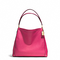 COACH MADISON EMBOSSED LEATHER SMALL PHOEBE SHOULDER BAG - LIGHT GOLD/PINK RUBY - F30089