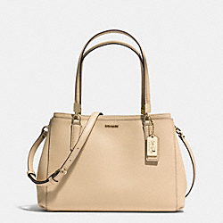 COACH MADISON SMALL CHRISTIE CARRYALL IN SAFFIANO LEATHER - LIGHT GOLD/TAN - F30128