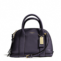 COACH BLEECKER PEBBLED LEATHER MINI PRESTON SATCHEL - GOLD/ULTRA NAVY - F30143