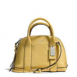 COACH BLEECKER MINI PRESTON SATCHEL IN PEBBLE LEATHER - SILVER/PALE LEMON - F30143