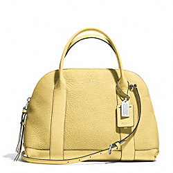 COACH BLEECKER PEBBLED PRESTON SATCHEL - SILVER/PALE LEMON - F30144
