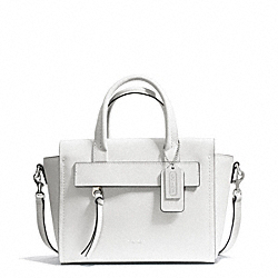 COACH BLEECKER SAFFIANO LEATHER MINI RILEY CARRYALL - SILVER/WHITE - F30146